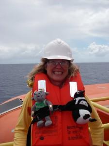 Teresa in safety gear