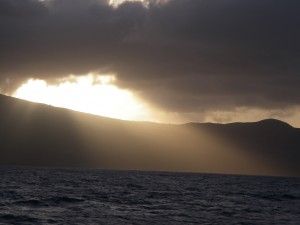 Sunset over Montserrat