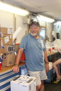 Steve Murawski relaxing in the lab between fishing episodes
